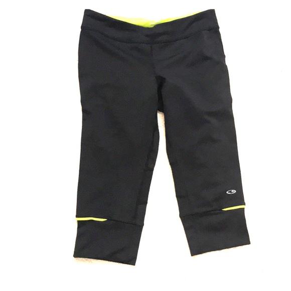 Champion Pants - Champion black running knee length tights